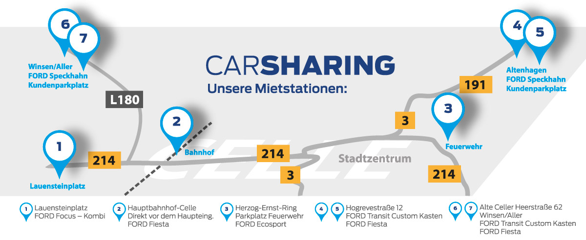 Ford CarSharing Map